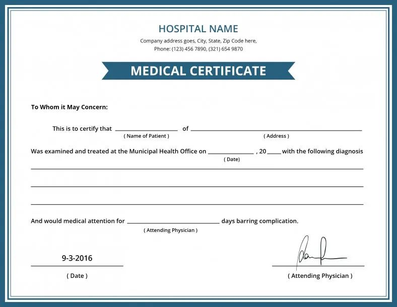 doctor certificate fake