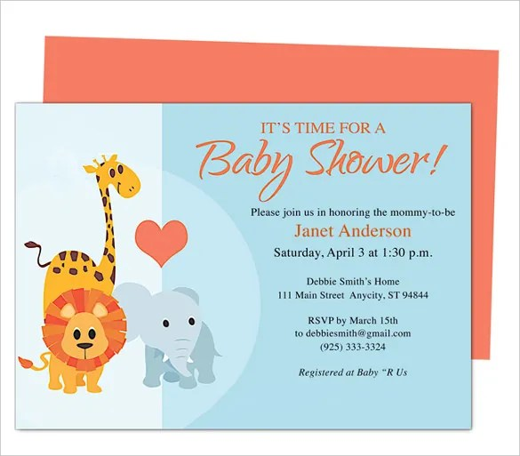 baby shower invitation templates free for word