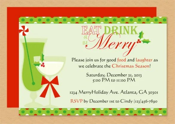 microsoft word christmas invitation template