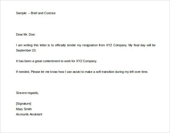 formal two weeks notice - Selol-ink - two weeks template