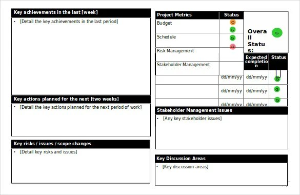 Status Report Templates - 7+ Free Word Documents Download Free
