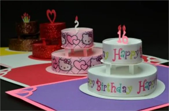 Birthday Cake Template u2013 21+ Free PSD, EPS,In Design Format - birthday cake card template