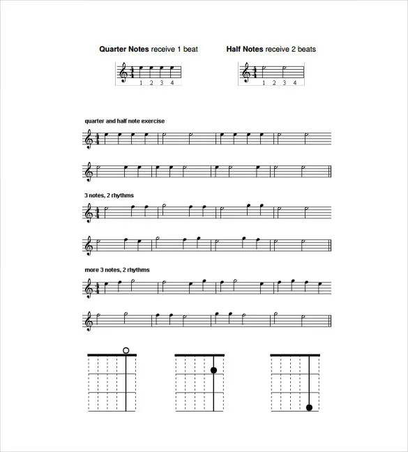 Sheet Music Template u2013 9+ Free Word, PDF Documents Download - music staff paper template