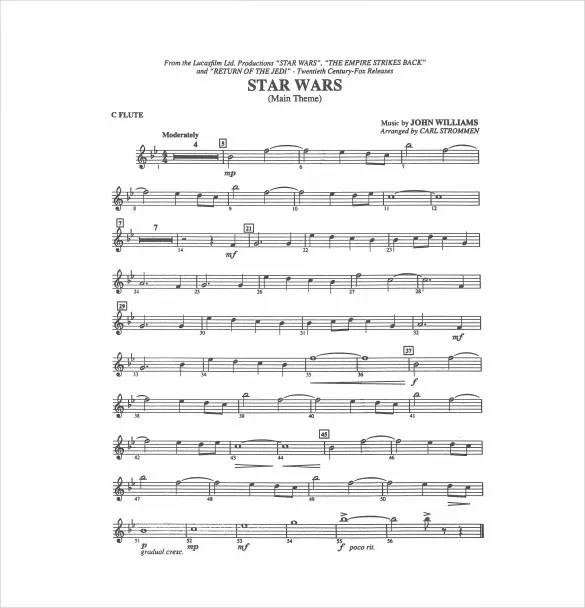 Sheet Music Template \u2013 9+ Free Word, PDF Documents Download! Free