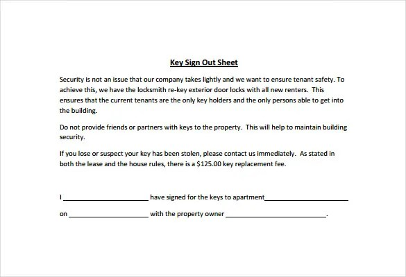 Sign Out Sheet Template - 14+ Free Word, PDF Documents Download