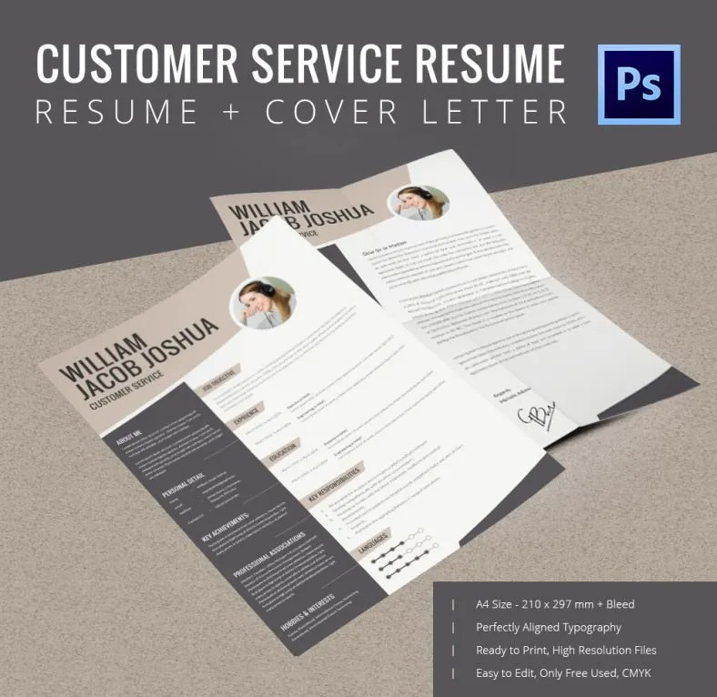 Customer Service Resume Template u2013 10+ Free Word, Excel, PDF - free resume templates to print