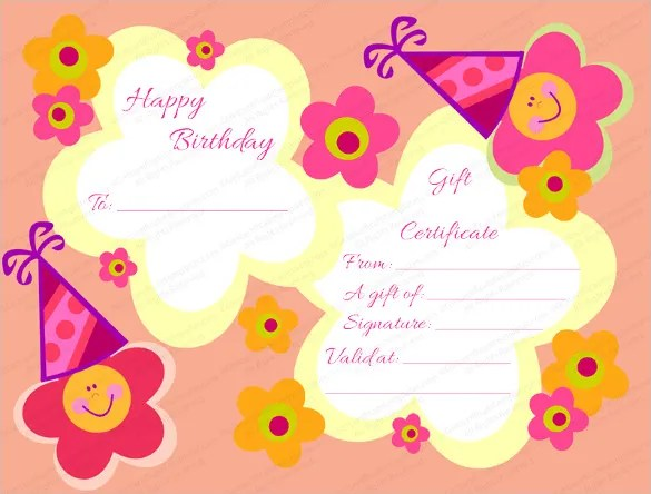 Birthday Certificate Templates \u2013 26+ Free PSD, EPS,In Design Format - sample birthday gift certificate template