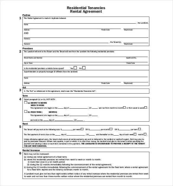 Lease Agreement Template \u2013 21+ Free Word, PDF Documents Download - short term rental contract form
