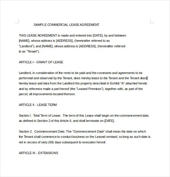 29+ Lease Agreement Templates - Word, PDF Free  Premium Templates