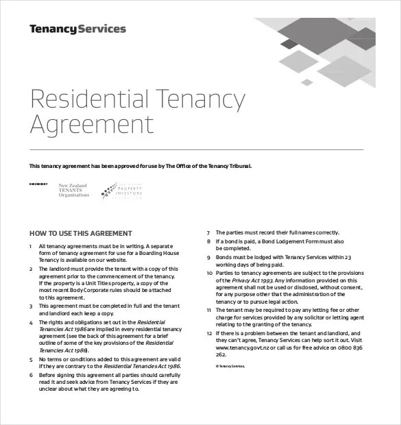 Lease Agreement Template \u2013 21+ Free Word, PDF Documents Download