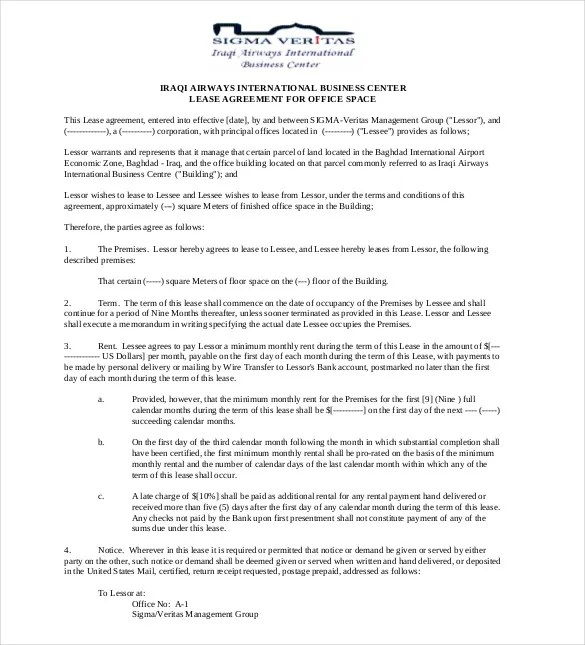 Lease Agreement Template \u2013 21+ Free Word, PDF Documents Download - commercial rent agreement format