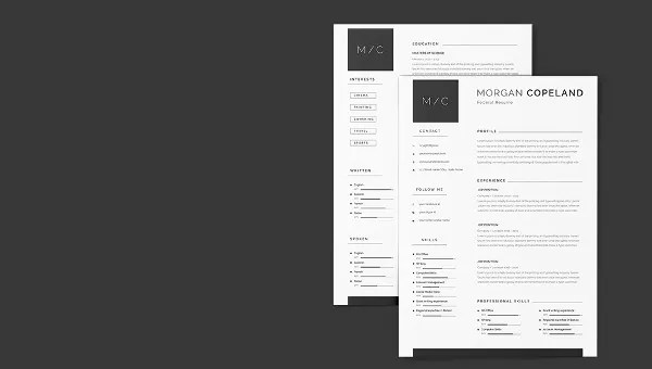 Creative Federal A4 Resume + Cover Letter Template Free  Premium