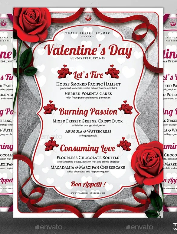 41+ Valentines Menu Templates - Free PSD, EPS Format Download Free - valentines day menu template