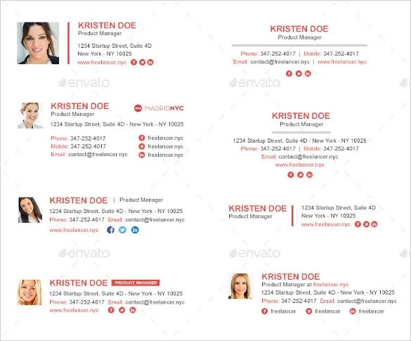 29+ Gmail Signature Templates \u2013 Samples, Examples  Format! Free