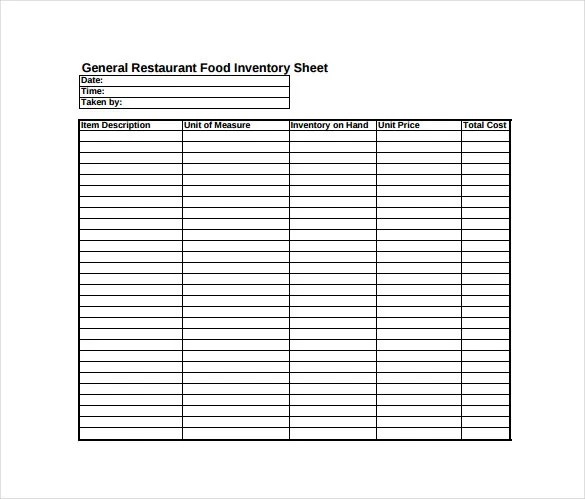 Inventory Sheet Template - 12+ Free Excel, PDF Documents Download - inventory sheets printable