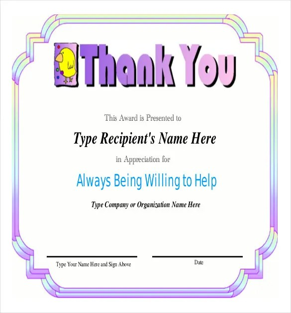 words of recognition and appreciation - Minimfagency - Certificate Of Appreciation Words