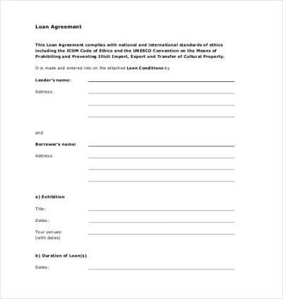 14+ Loan Agreement Templates - Word, PDF | Free & Premium Templates