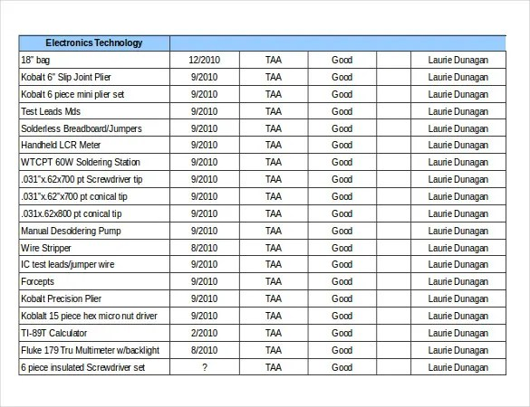 Free Inventory Template \u2013 16+ Free Excel, Word Documents Download