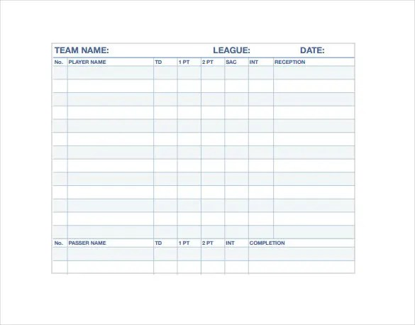 Stat Sheet Template - 7+ Free Word, Excel, PDF Documents Download