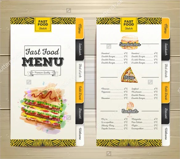 menu formats - Onwebioinnovate - food menu template