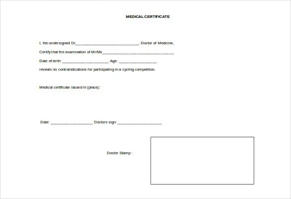 Doctor Certificate Template - 17+ Free Word, PDF Documents - certificate template doc