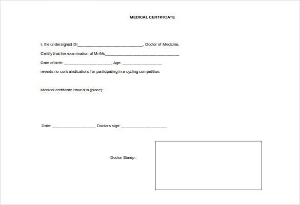 27+ Doctor Certificate Templates - PDF, DOC Free  Premium Templates