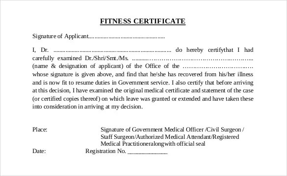 Doctor Certificate Template - 27+ Free Word, PDF Documents Download - medical certificate download