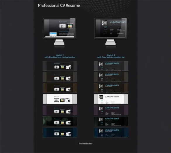 41+ HTML5 Resume Templates \u2013 Free Samples, Examples Format Download