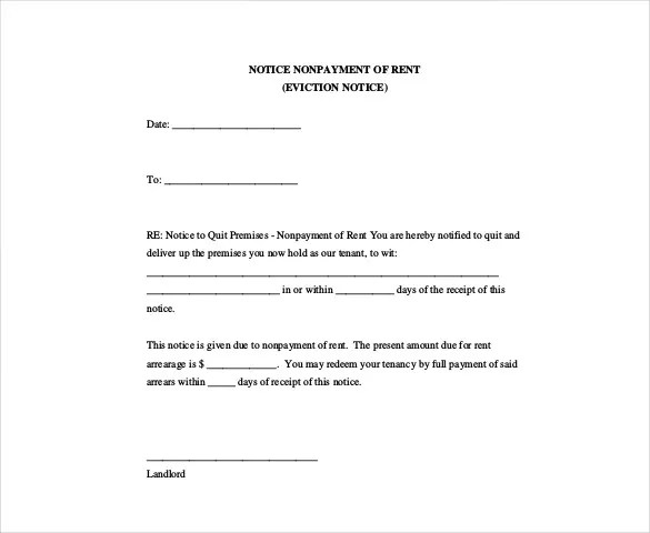 Eviction Notice Template - 29+ Free Word, PDF Document Free - eviction notice template