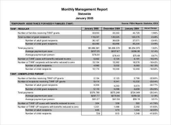 38+ Monthly Management Report Templates - PDF, DOC, Excel Free