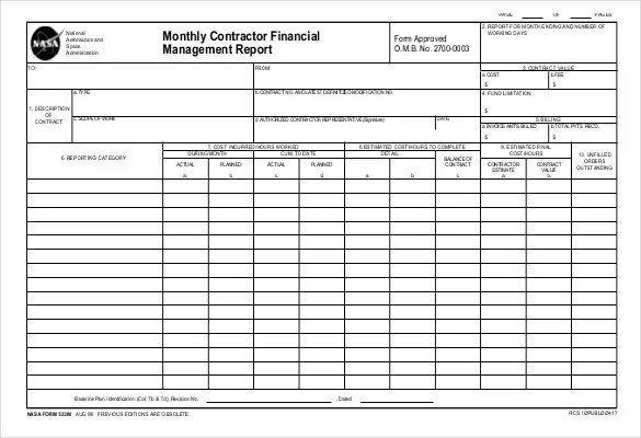 38+ Monthly Management Report Templates - PDF, DOC, Excel Free - monthly report format