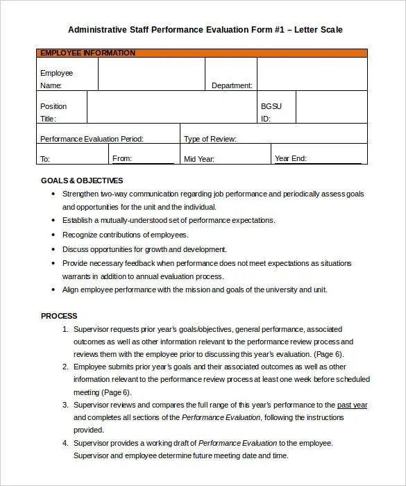 30+ Appraisal Letters - Free Sample, Example Format Free - job performance evaluation form templates