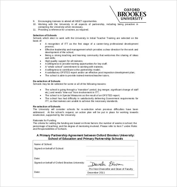 Partnership Agreement Template -11+ Free Word, PDF Document - partnership agreement free template