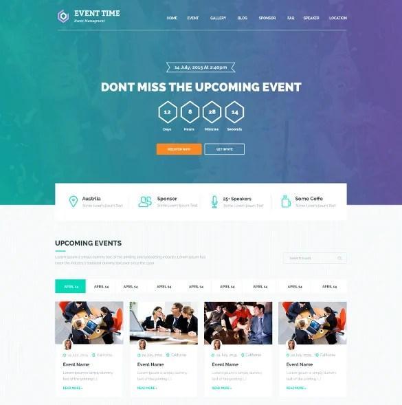 33+ Event Planning Website Themes  Templates Free  Premium Templates