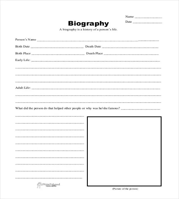 25+ Biography Templates - DOC, PDF, Excel Free  Premium Templates