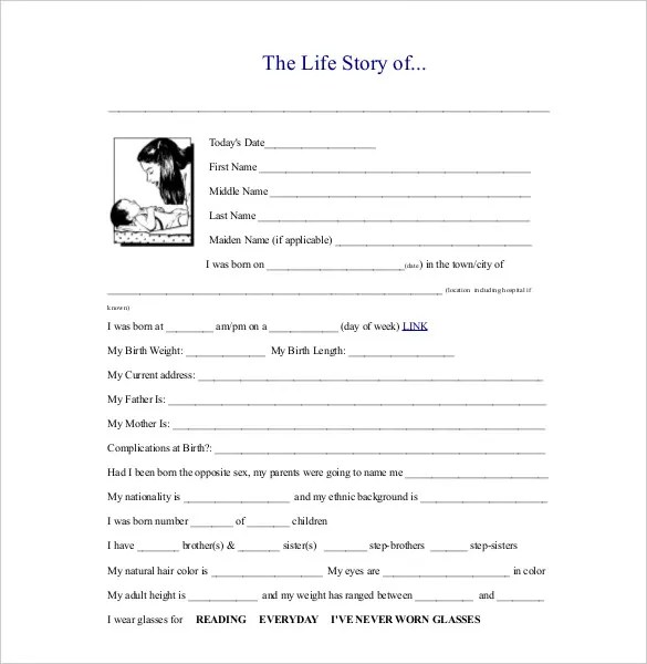 Biography Template - 20+ Free Word, PDF Documents Download Free - microsoft word biography template