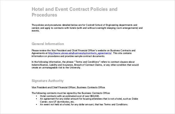 Event Contract Template - 22+ Word, Excel, PDF, Documents Download