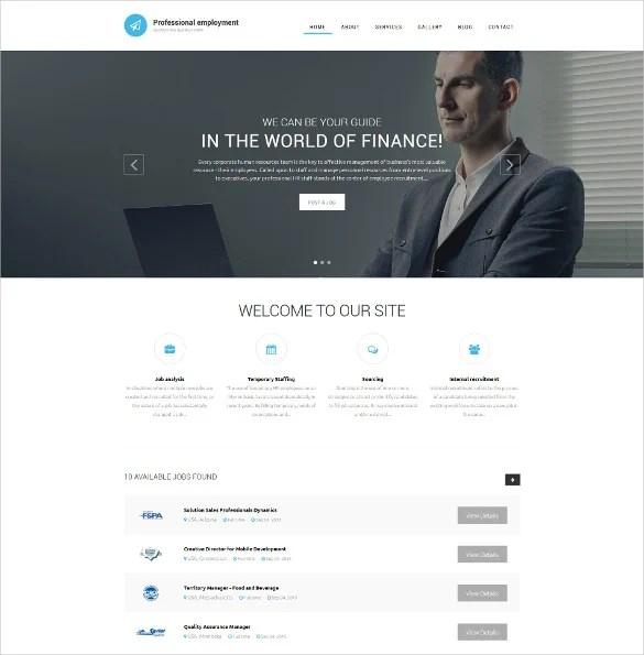 19+ Job Portal HTML5 Themes  Templates Free  Premium Templates