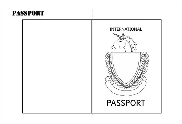 24+ Passport Templates Free PDF, Word, PSD Designs - passport template