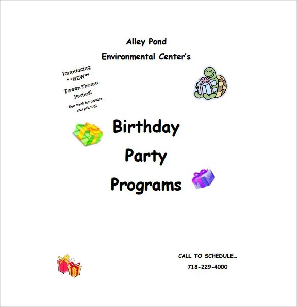 Birthday Program Template - 11+ Free Word, PDF, PSD, EPS, AI - sample program templates