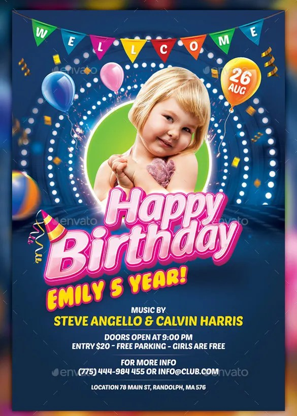 12+ Birthday Program Templates - PDF, PSD Free  Premium Templates