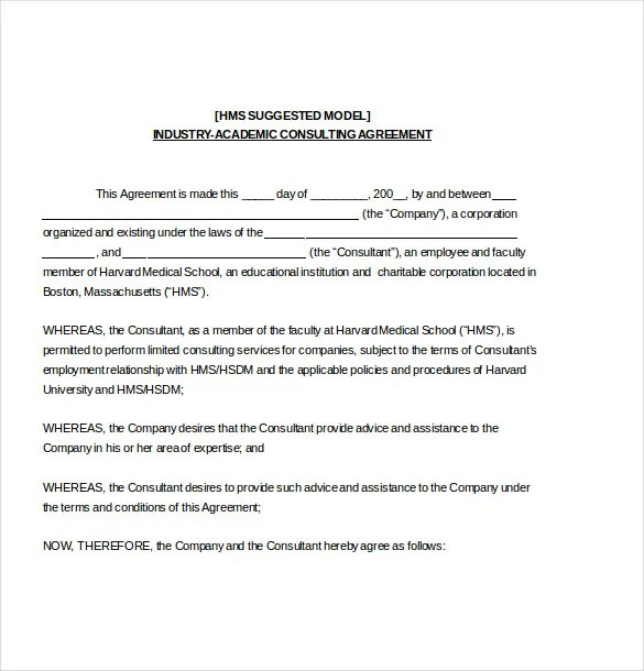 Consulting Agreement Template \u2013 10+ Free Word, PDF Document Download - consulting agreement