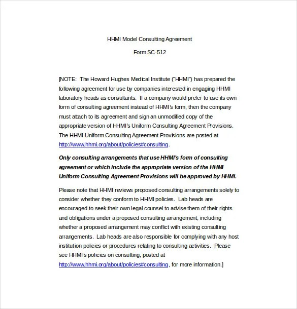 Consulting Agreement Template \u2013 10+ Free Word, PDF Document Download - heads of agreement template free
