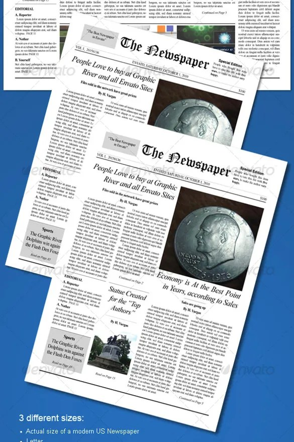 Old Newspaper Template Simpletext