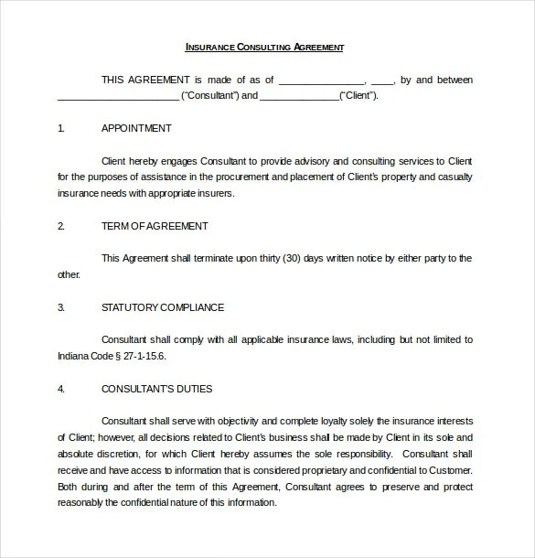 Contract Agreement Consulting  Professional Reference Letter