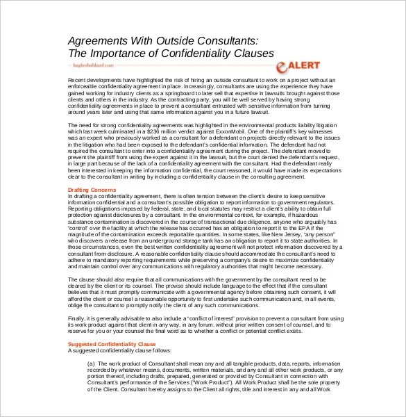 Consulting Agreement Template \u2013 10+ Free Word, PDF Document Download - consulting agreement forms