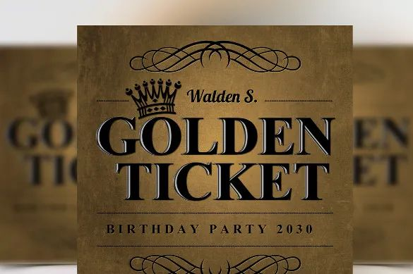ticket style invitation template free
