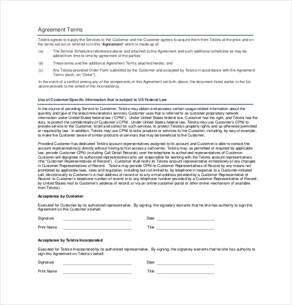 Service Contract Template Top 5 Resources To Get Free Service - business service agreement