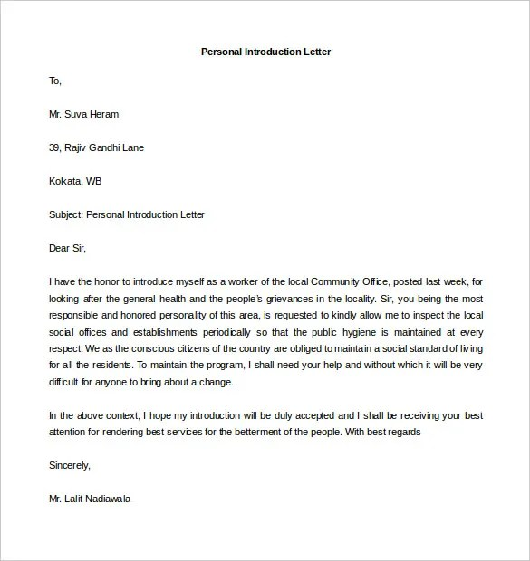 Reference Letter Request Template – Personal Letter of Reference Format