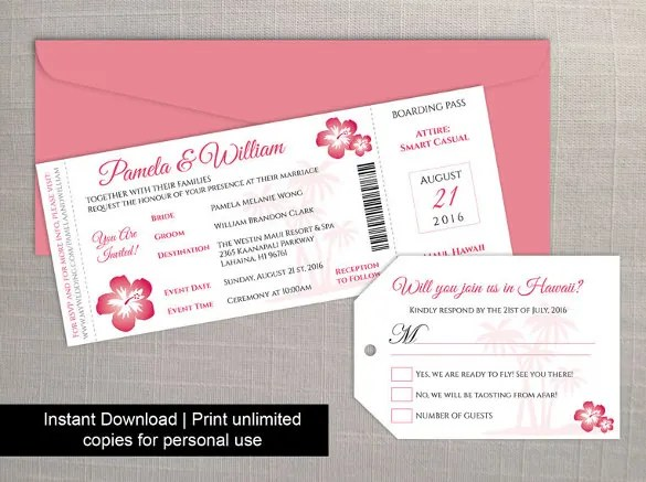 27 Boarding Pass Invitation Templates Psd Ai Vector